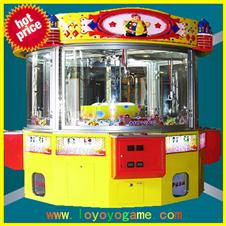 four person together crane gift vending game machine