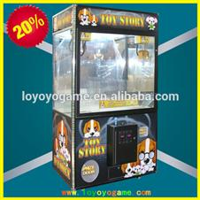 Lucky Wheel Toy Vending Crane Amusement Machine 42'Double Claw Crane Mechine_