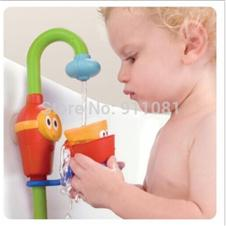 Zhitongbaby Favorite baby bath toys automatic spout play taps/buttressed folding spray showers free shipping