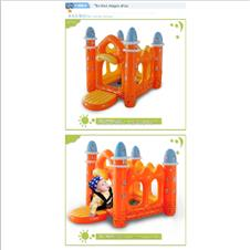 Inflatable thickening indoor household small baby toys children's amusement park equipment naughty castle castle